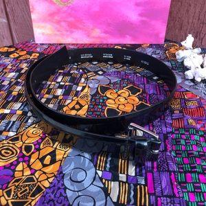 VG Black Patent Leather Jacob belt sz med